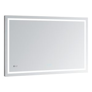AQUADOM Daytona 48 inches x 30 inches Wall Mounted LED Lighted Silver Mirror for Bathroom