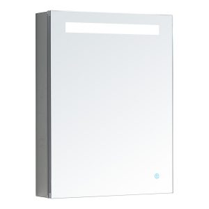 AQUADOM Pacifica 20 inches x 26 inches LED Mirror Glass Medicine Cabinet for Bathroom