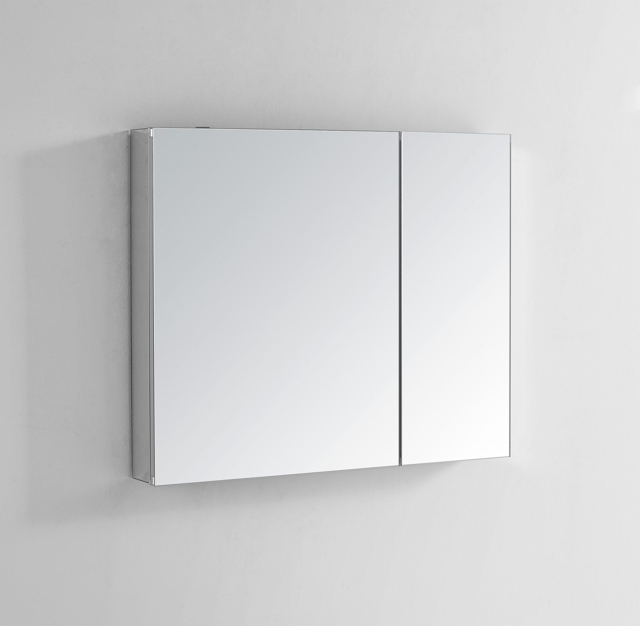 AQUADOM Royale 30 inches x 30 inches Medicine Mirror Glass Cabinet for Bathroom
