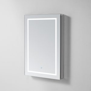 AQUADOM Royale Plus 24 inches x 30 inches Left Sided LED Lighted Mirror Glass Medicine Cabinet for Bathroom