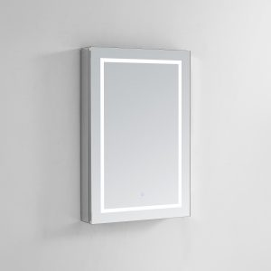 AQUADOM Royale Plus 24 inches x 36 inches Right Sided LED Lighted Mirror Glass Medicine Cabinet for Bathroom