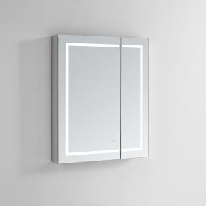 AQUADOM Royale Plus 36 inches x 36 inches LED Lighted Mirror Glass Medicine Cabinet for Bathroom