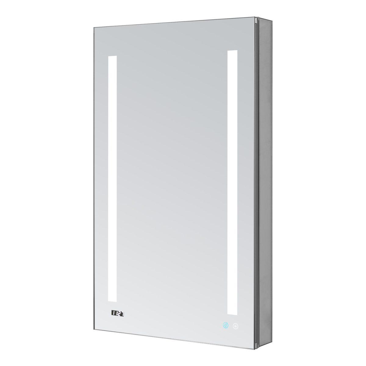 AQUADOM Signature Royale 24 inches x 30 inches Left Sided LED Lighted Mirror Glass Medicine Cabinet for Bathroom