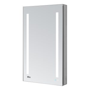 AQUADOM Signature Royale 24 inches x 30 inches Right Sided LED Lighted Mirror Glass Medicine Cabinet for Bathroom