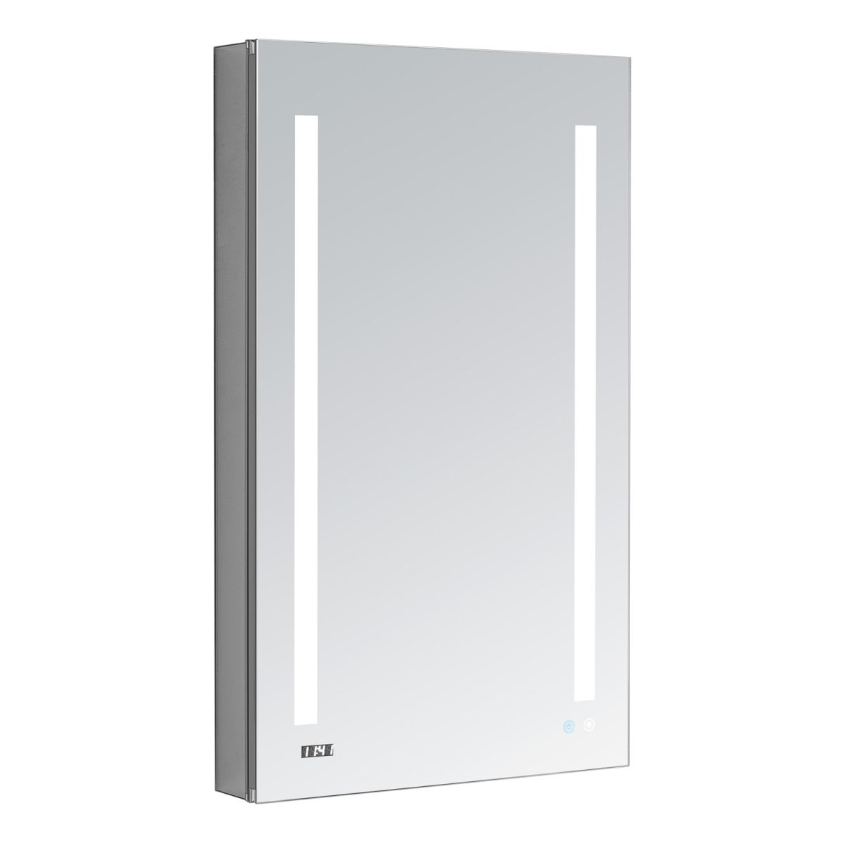 AQUADOM Signature Royale 24 inches x 40 inches Right Sided LED Lighted Mirror Glass Medicine Cabinet for Bathroom
