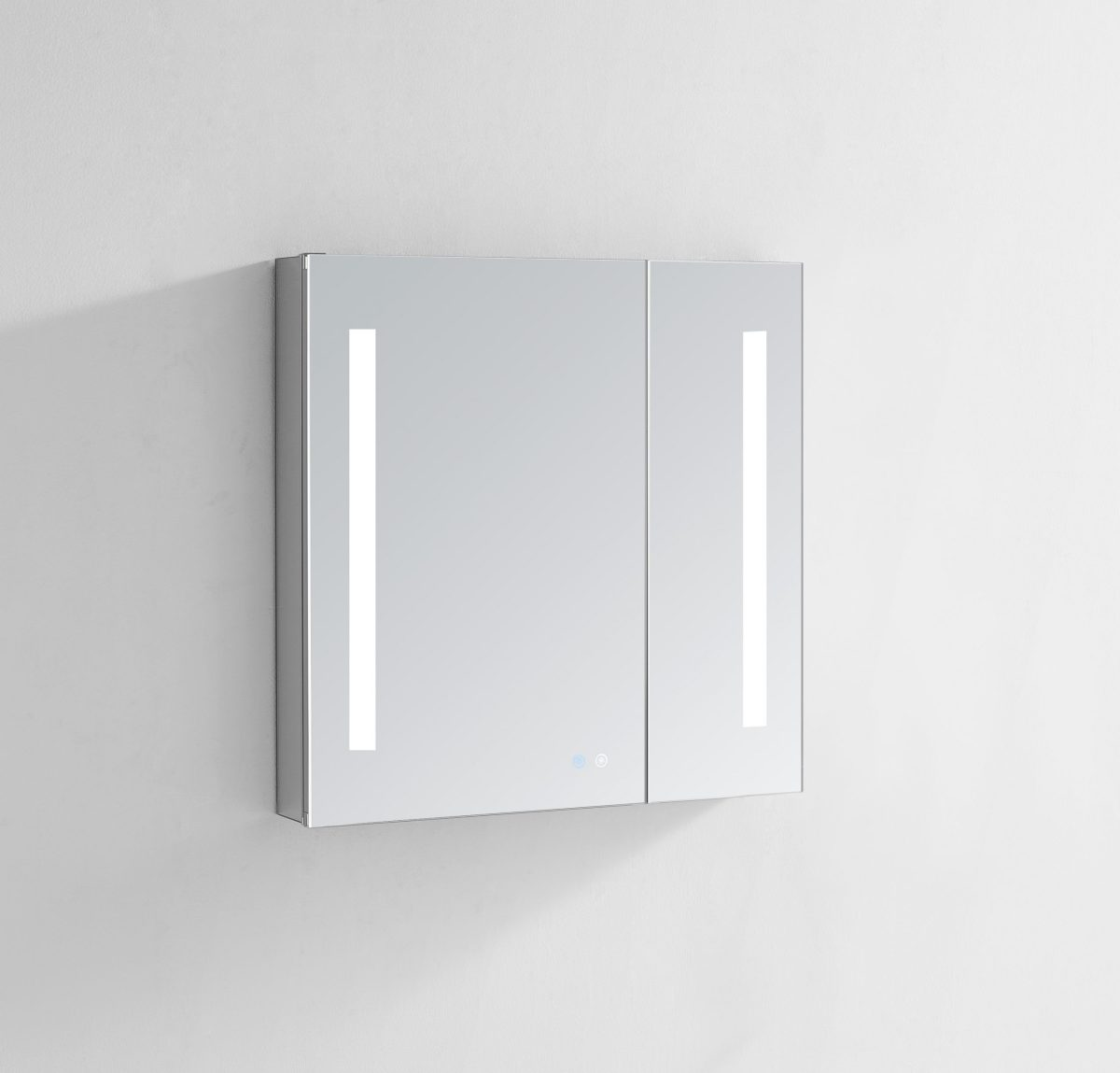 AQUADOM Signature Royale 30 inches x 30 inches LED Lighted Mirror Glass Medicine Cabinet for Bathroom