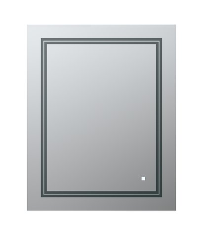 AQUADOM Soho 24 inches x 30 inches Led Lighted Silver Mirror for Bathroom