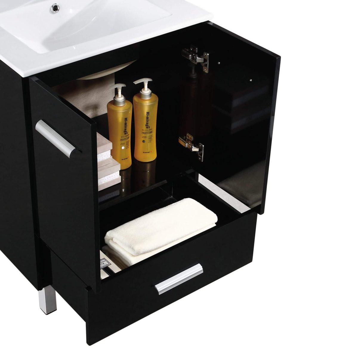 """Atwood 24"""" Modern Bathroom Vanity, Black"""