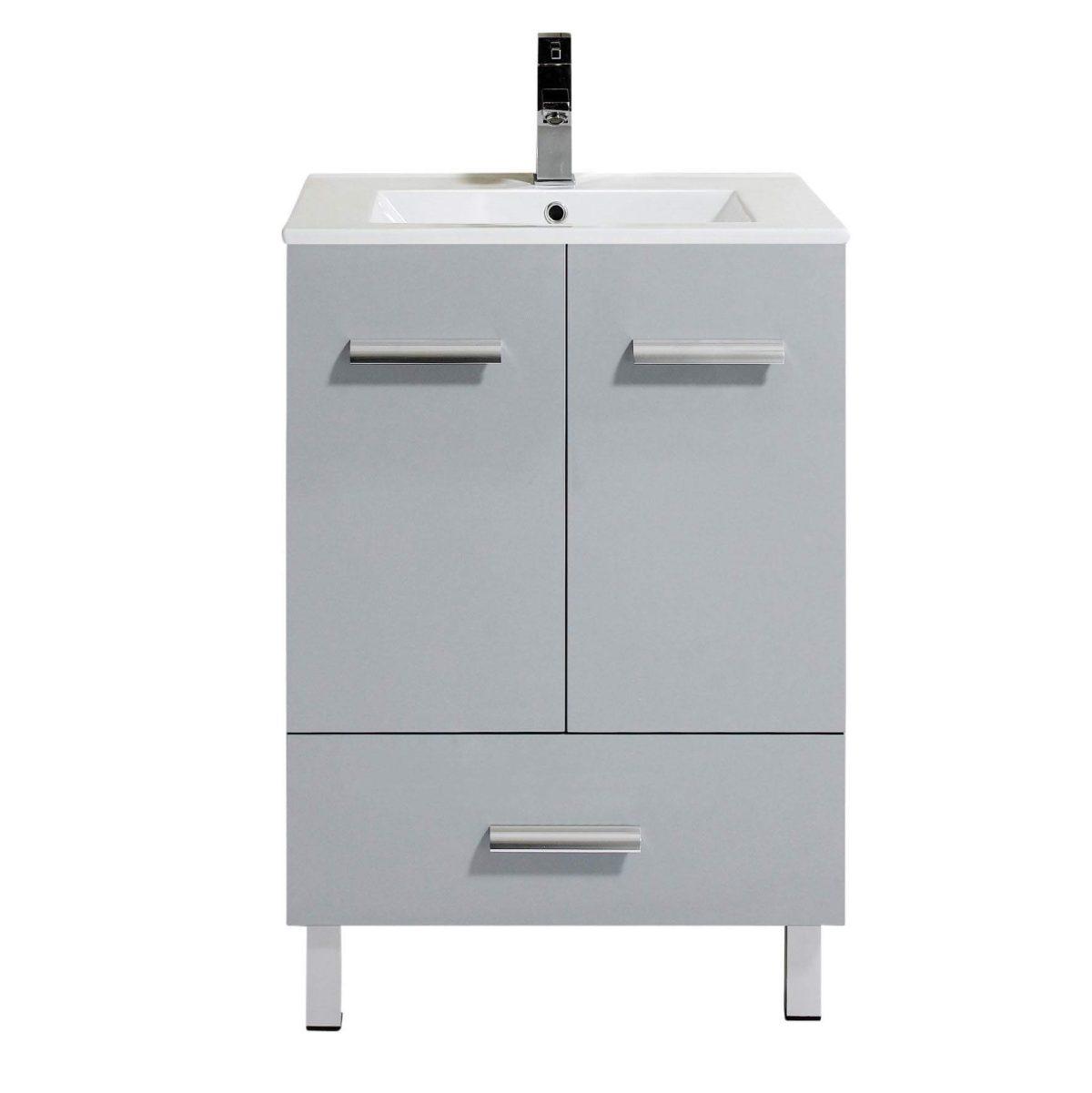 "Atwood 24""  Modern Bathroom Vanity, Gray"