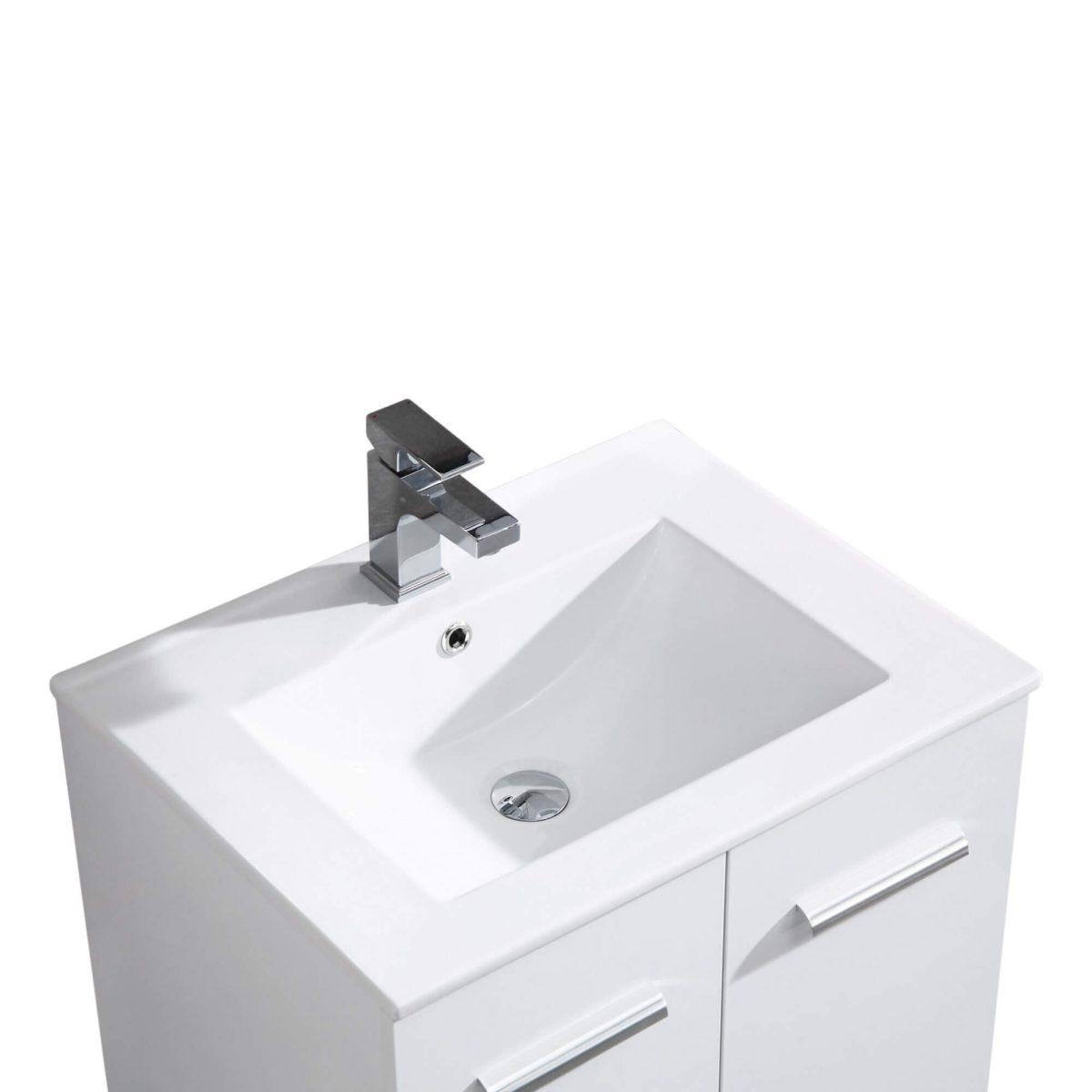 "Atwood 24"" Modern Bathroom Vanity,White"