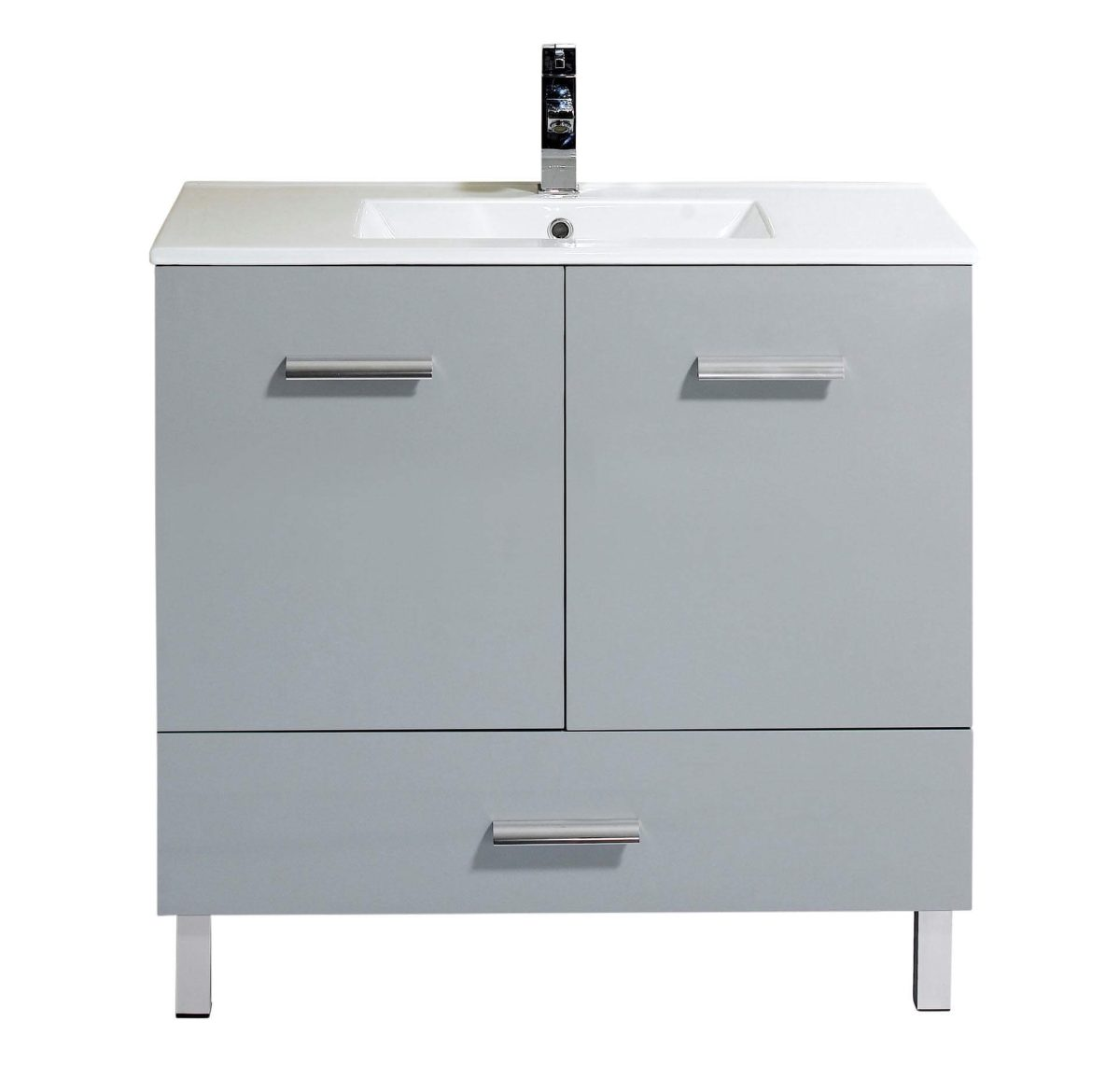 "Atwood 36"" Modern Bathroom Vanity  Gray"