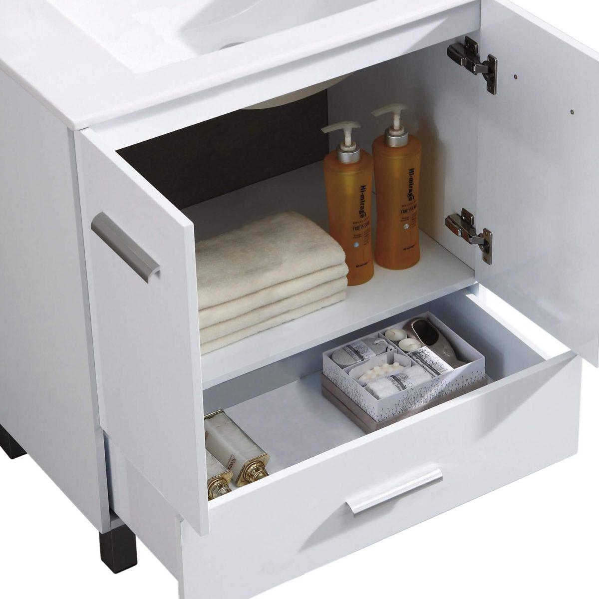 "Atwood 36"" Modern Bathroom Vanity  White"