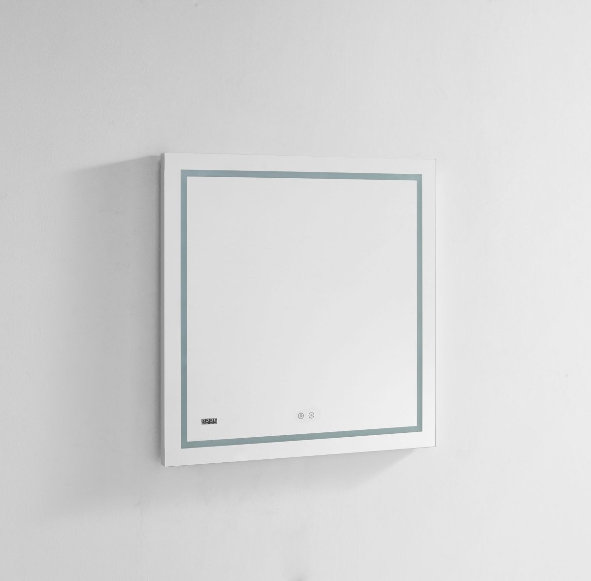AQUADOM Daytona 30 inches x 36 inches Wall Mounted LED Lighted Silver Mirror for Bathroom
