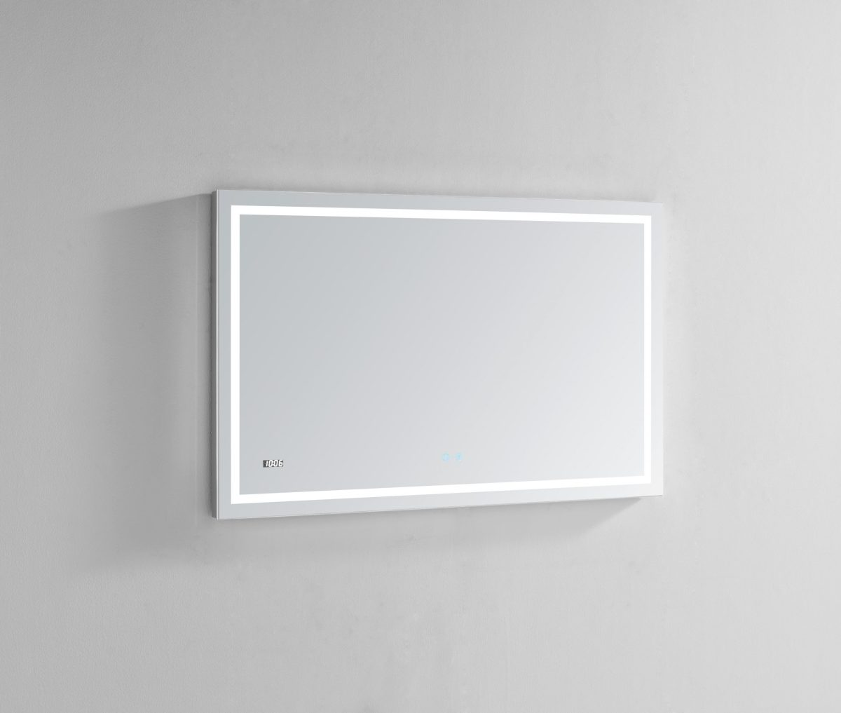 AQUADOM Daytona 48 inches x 36 inches Wall Mounted LED Lighted Silver Mirror for Bathroom