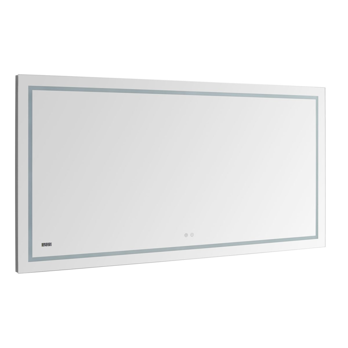 AQUADOM Daytona 60 inches x 36 inches Wall Mounted LED Lighted Silver Mirror for Bathroom