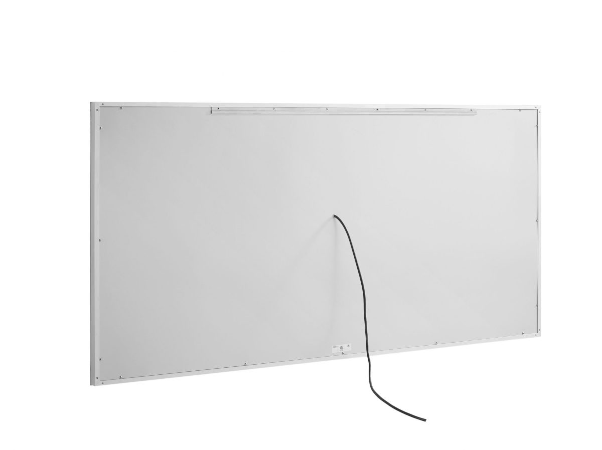 AQUADOM Daytona 84 inches x 36 inches Wall Mounted LED Lighted Silver Mirror for Bathroom