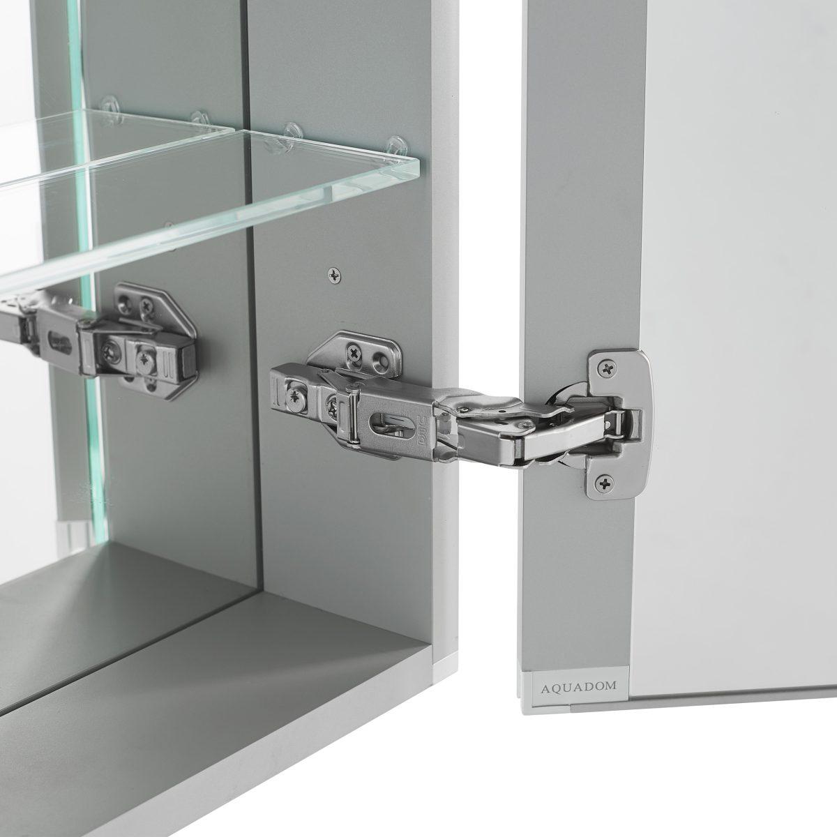 AQUADOM Pacifica 20 inches x 26 inches LED Mirror Glass Medicine Cabinet for Bathroom