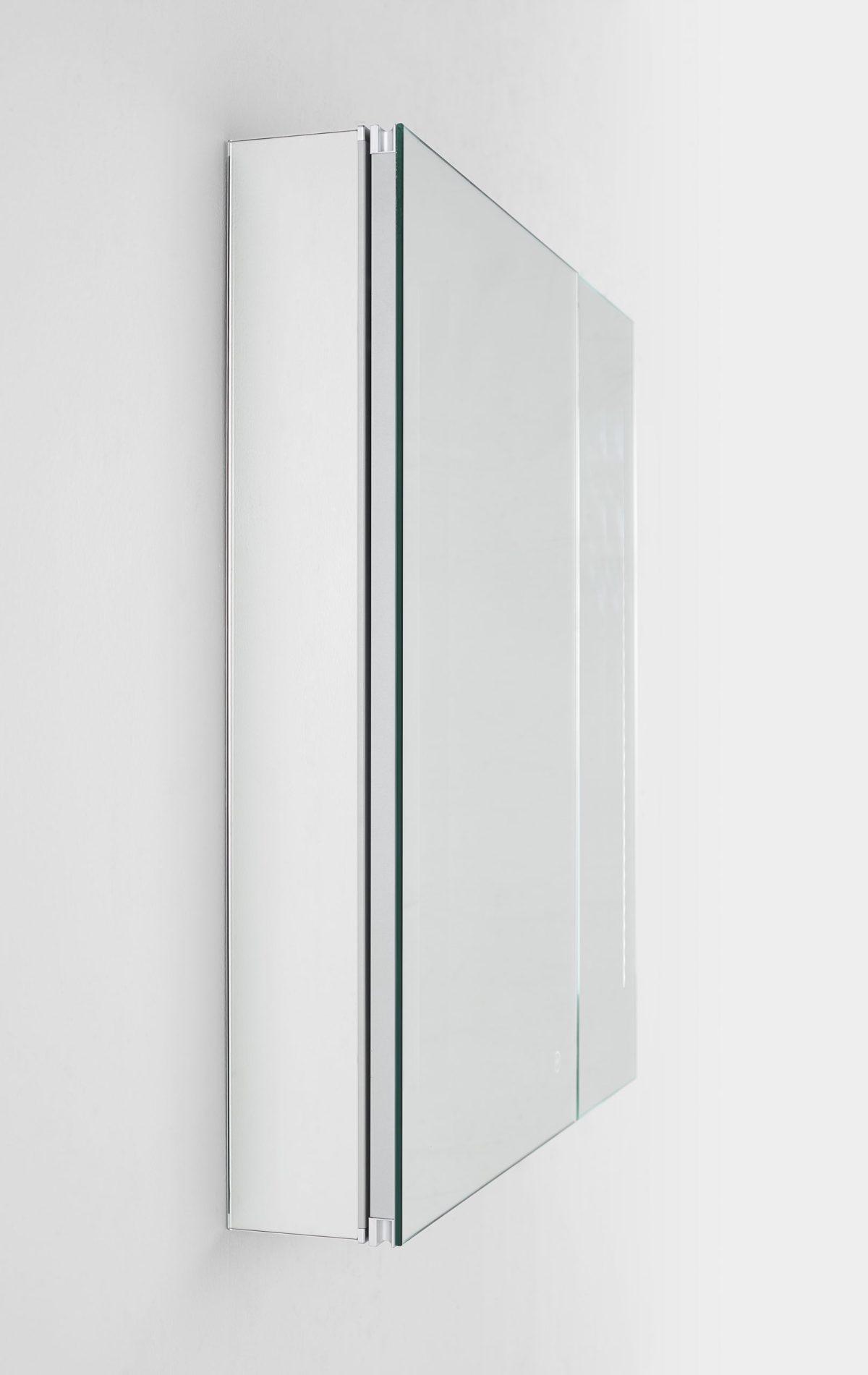 AQUADOM Royale 24 inches x 30 inches Medicine Mirror Glass Cabinet for Bathroom