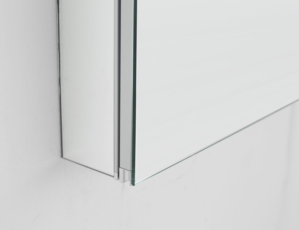 AQUADOM Royale 48 inches x 30 inches Medicine Mirror Glass Cabinet for Bathroom