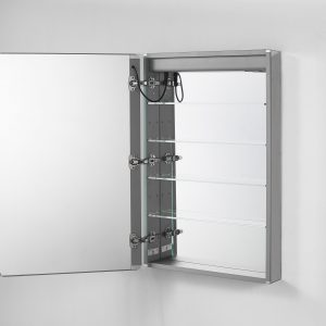 AQUADOM Royale Plus 24 inches x 30 inches Right Sided LED Lighted Mirror Glass Medicine Cabinet for Bathroom