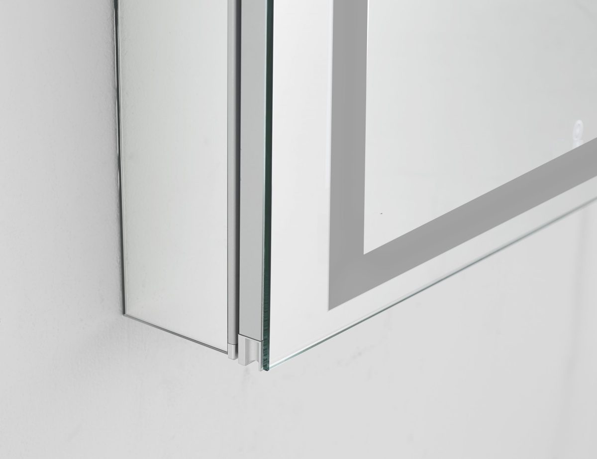 AQUADOM Royale Plus 24 inches x 36 inches Left Sided LED Lighted Mirror Glass Medicine Cabinet for Bathroom