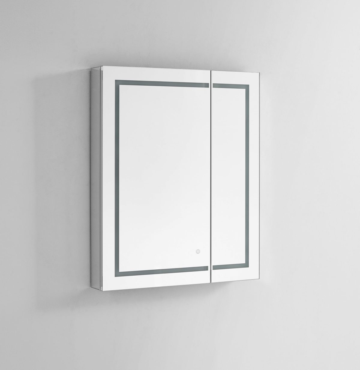 AQUADOM Royale Plus 30 inches x 30 inches LED Lighted Mirror Glass Medicine Cabinet for Bathroom