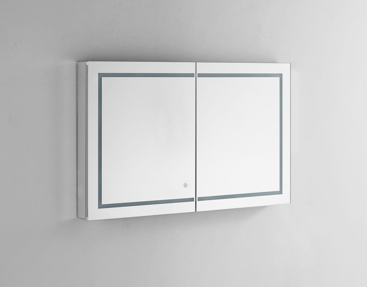 AQUADOM Royale Plus 48 inches x 30 inches LED Lighted Mirror Glass Medicine Cabinet for Bathroom