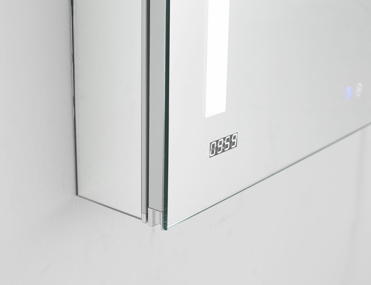 AQUADOM Signature Royale 24 inches x 40 inches Left Sided LED Lighted Mirror Glass Medicine Cabinet for Bathroom