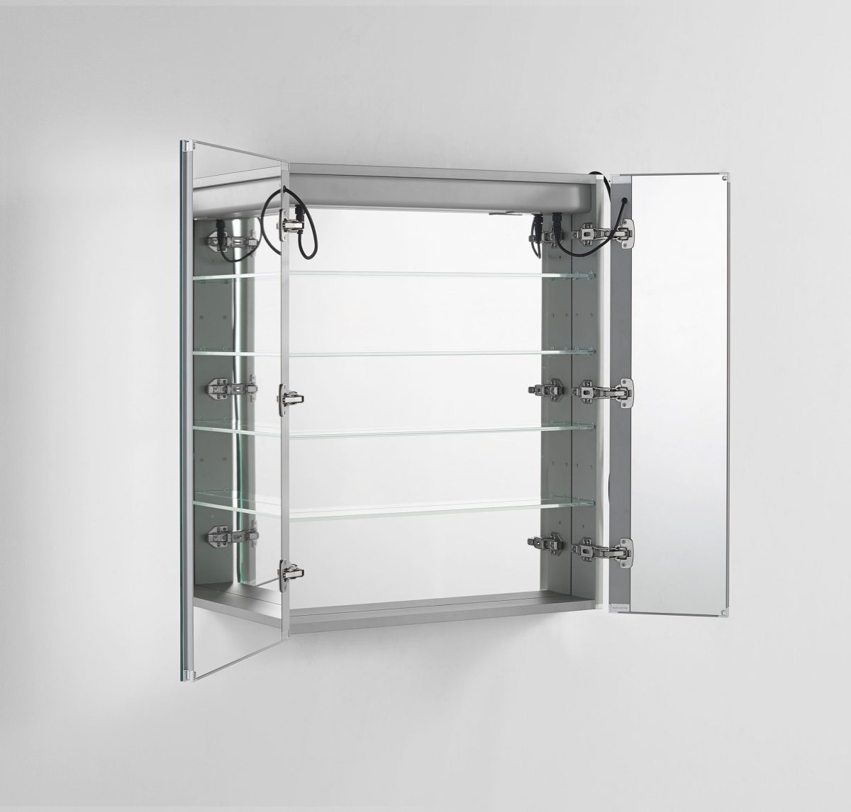 AQUADOM Signature Royale 36 inches x 40 inches LED Lighted Mirror Glass Medicine Cabinet for Bathroom