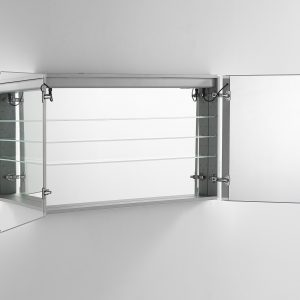 AQUADOM Signature Royale 48 inches x 40 inches LED Lighted Mirror Glass Medicine Cabinet for Bathroom