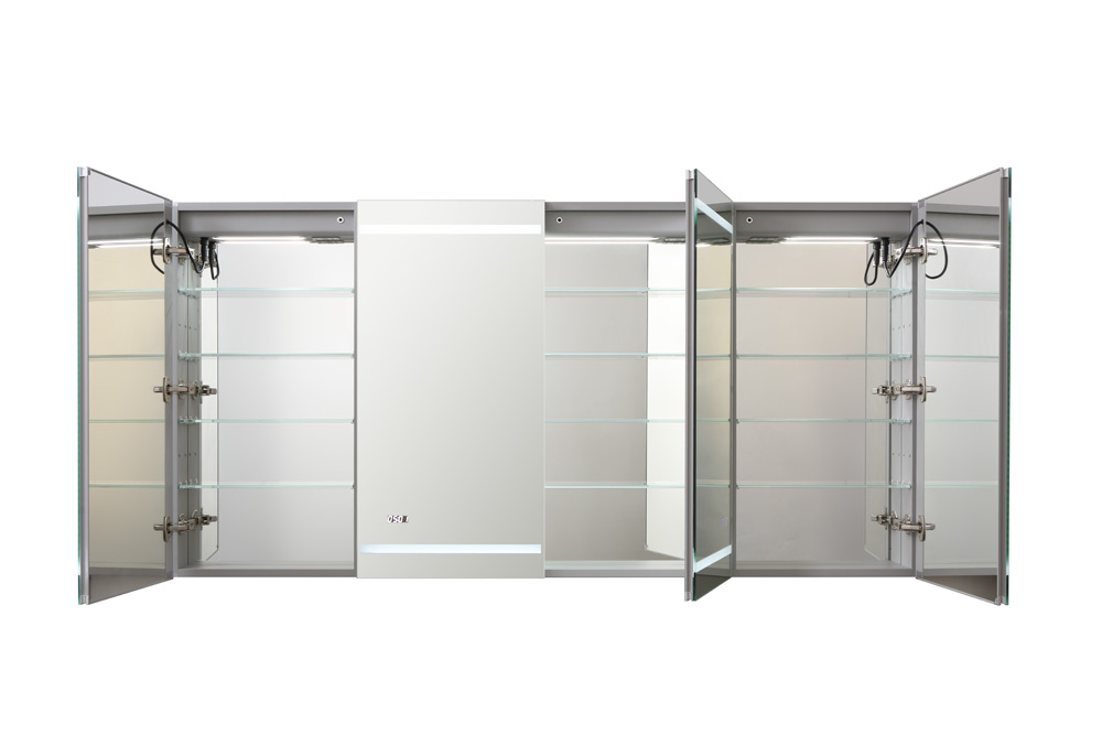 AQUADOM Signature Royale 72 inches x 36 inches LED Lighted Mirror Glass Medicine Cabinet for Bathroom