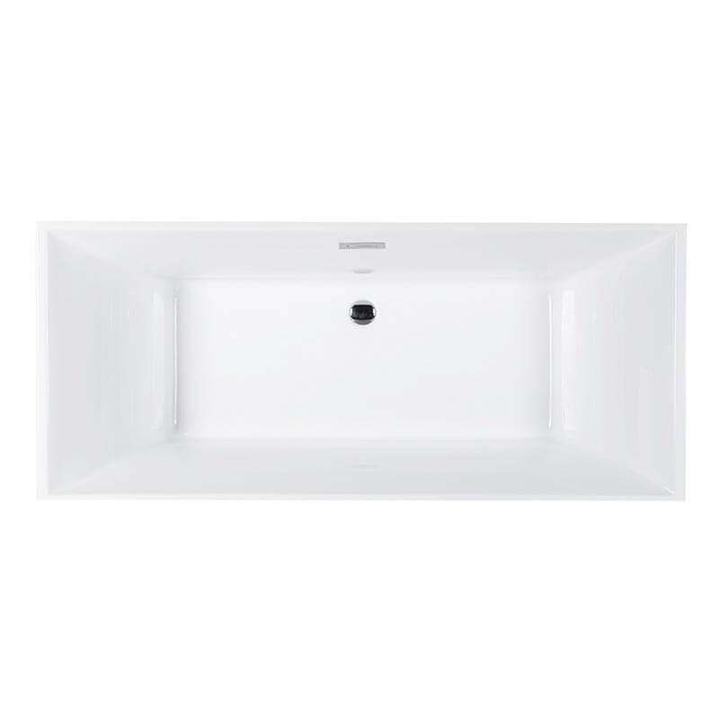 "Sanctuary 67""  Freestanding White Bathtub"