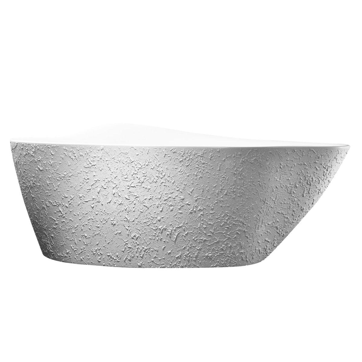 """Bisque 69""""  Freestanding White Bathtub"""
