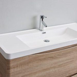 Eviva Smile 48 in. Freestanding White Oak Modern Single Bathroom Vanity Set with Integrated White Acrylic Sink