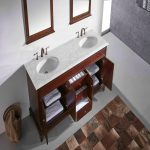Eviva Elite Stamford 60 In. Brown Solid Wood Bathroom Vanity Set With Double Og White Carrara Marble Top and White Undermount Porcelain Sinks