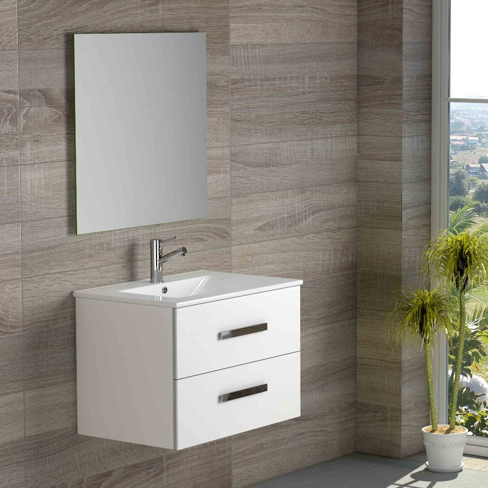 Eviva Astoria 28 In. White Modern Bathroom Vanity With White Integrated Porcelain Sink