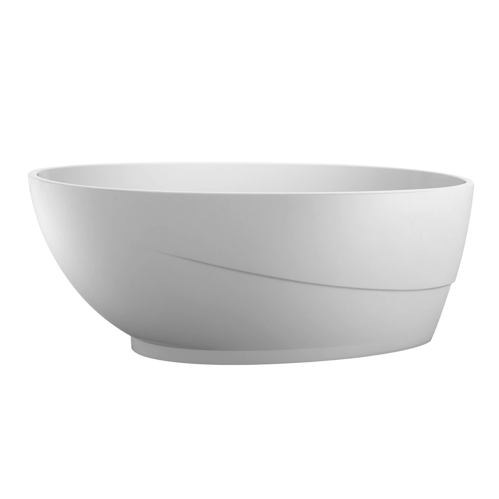 """Aviary 67""""  Freestanding White Bathtub"""
