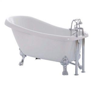 "Cavalry 63""  Clawfoot White Bathtub"