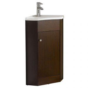 "Englewood 22"" Modern Corner Bathroom Vanity Wenge"