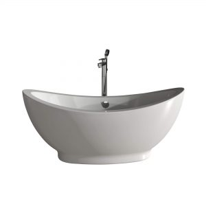 "Hudson 64""  Freestanding White Bathtub"
