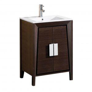 """Imperial II 24"""" Modern Bathroom Vanity  Ebony"""