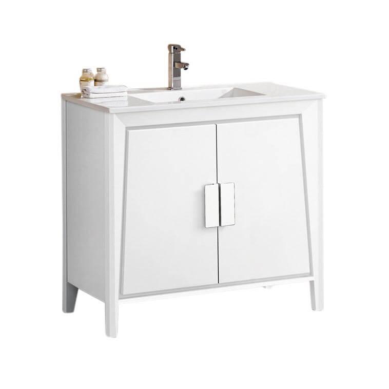 """Imperial II 36"""" Modern Bathroom Vanity  White"""
