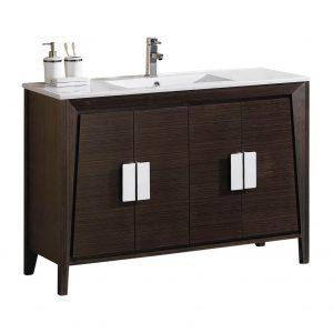 """Imperial II 48"""" Modern Bathroom Vanity  Ebony"""