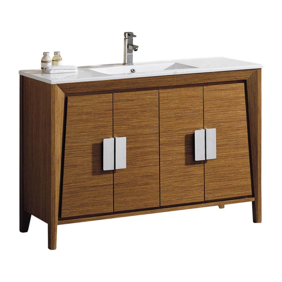 """Imperial II 48"""" Modern Bathroom Vanity  Wheat"""