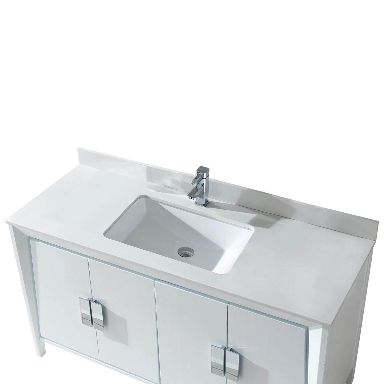 """Imperial II Modern Bathroom Vanity 60""""  White"""
