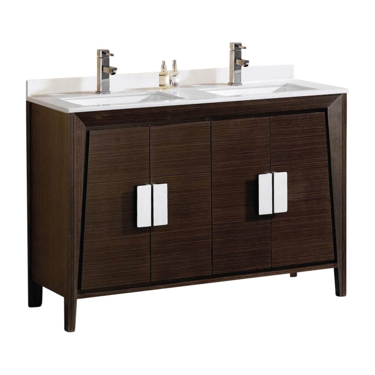 "Imperial II Modern Double Bathroom Vanity 60""  Ebony"