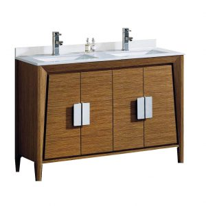 """Imperial II Modern Double Bathroom Vanity 60""""  Wheat"""