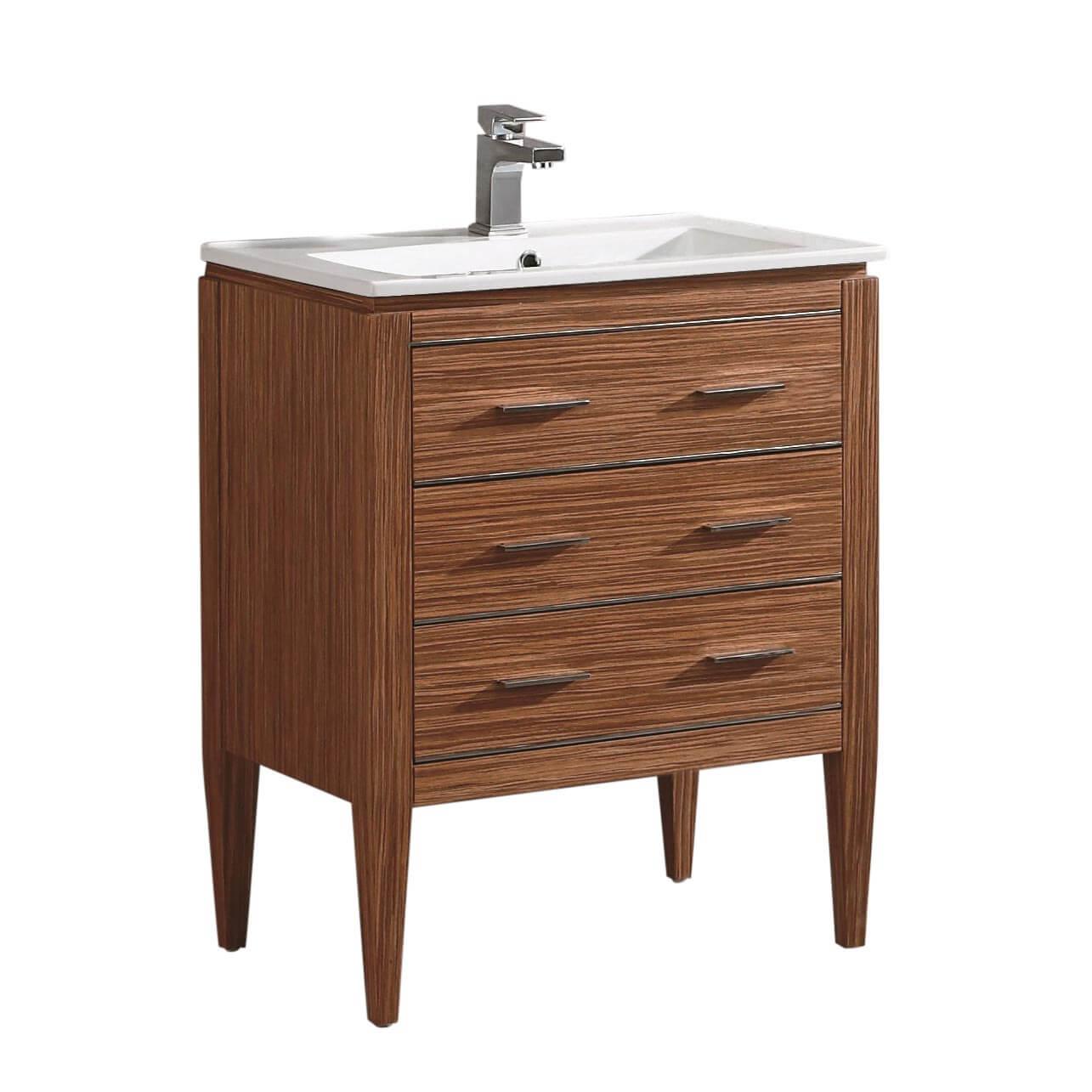 "Ironwood 24"" Modern Bathroom Vanity  Red Zebra"