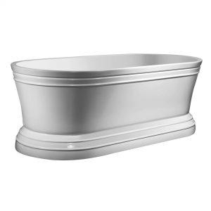 """Metro 66""""  Freestanding White Bathtub"""