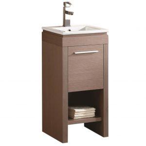 "Modena 16"" Modern Bathroom Vanity Gray Oak"